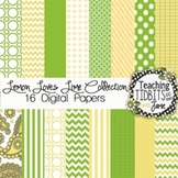 Digital Papers - Lemon Loves Lime Collection {12X12 Person