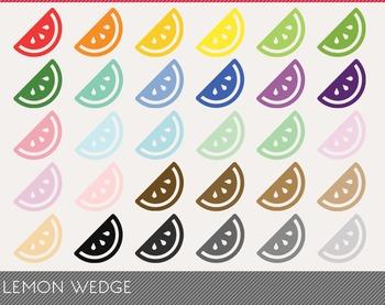 Lemon Wedge Digital Clipart, Lemon Wedge Graphics, Lemon W