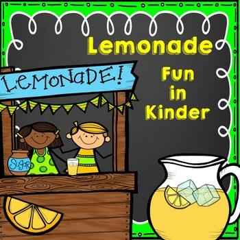 Lemonade Fun in Kinder (Math, Reading, and Writing)