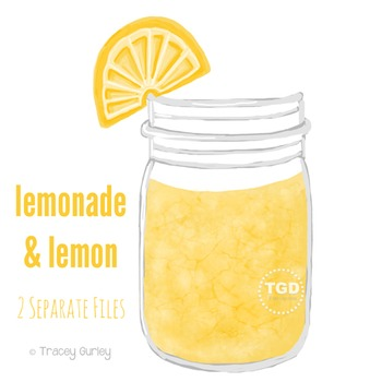 Lemonade Mason Jar - Mason jar with lemon Printable Tracey