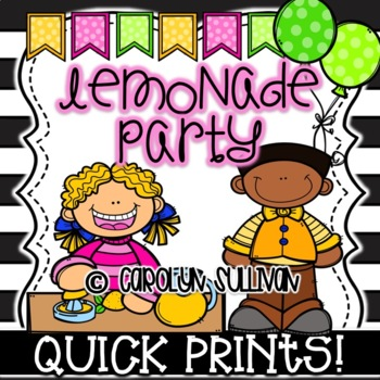 Lemonade Party for Spring and Summer - Quick Prints for Ki