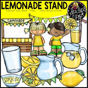 Lemonade Stand Clip Art Bundle {Educlips Clipart}