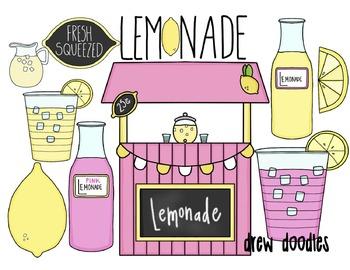 Lemonade Stand Digital Clip Art Set