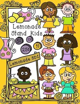 Lemonade Stand Kids -Spring & Summer Clip Art