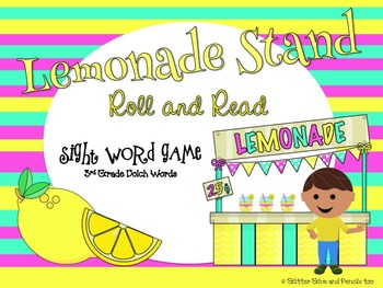 Lemonade Stand Roll and Read Sight Word Game: 3rd Grade Do