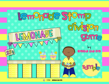 Sample Lemonade Stomp Division Game *FREEBIE!*