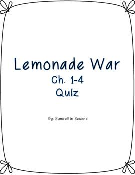 Lemonade War Ch. 1-4 quiz