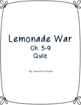 Lemonade War Ch. 5-9 Quiz