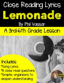 "Poetry They Will LOVE: ""Lemonade"" by Phil Vassar- Close Re"