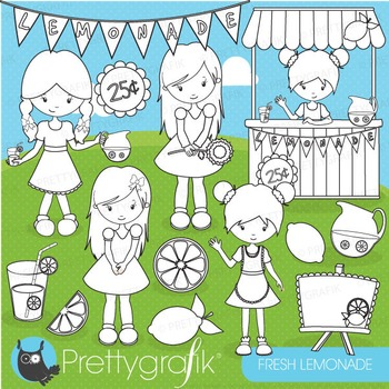 Lemonade stand stamps commercial use, vector graphics, ima