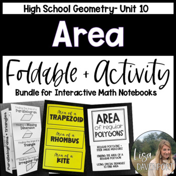 Length & Area (Geometry Foldable Bundle #10)