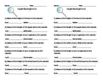 Length Scavenger Hunt (Metric and Customary)