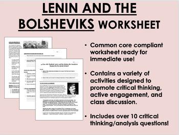 Lenin and the Bolsheviks worksheet - Global/World History