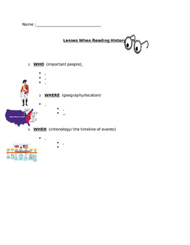Lens of History Graphic Organizer