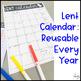 Lent Calendar and Activities
