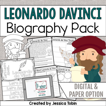 Leonardo da Vinci Biography Pack