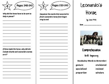 Leonardo's Horse Trifold - Storytown 5th Grade Unit 2 Week 4