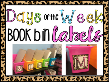 Leopard Days of the Week Labels