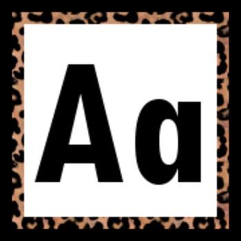 Leopard Print Word Wall Labels