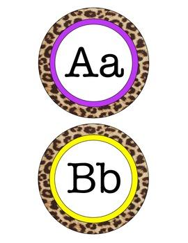 Leopard Word Wall Letters
