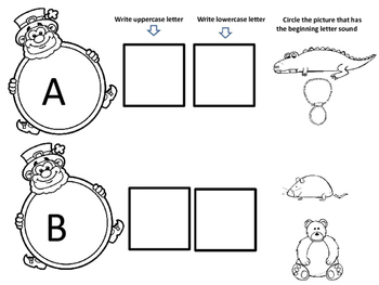 Leprechaun Beginning Letters and Sounds