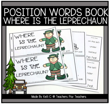 Leprechaun Book Using Position Words For St. Patricks Day