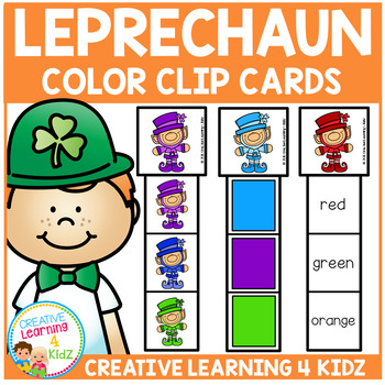 Leprechaun Color Clip Cards St. Patrick's Day