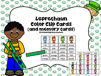 Leprechaun Color Clip Cards