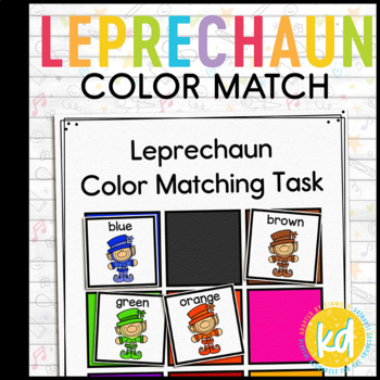 Leprechaun Color Matching Folder Game for Early Childhood