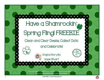 Leprechaun Glyph FREEBIE!  Clean Desks, Collect Data and C