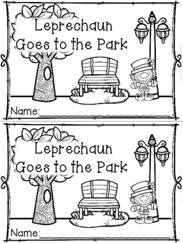 """""""Leprechaun Goes to the Park"""" (A March Emergent Reader Dol"""