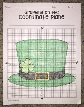 Leprechaun Hat (Graphing on the Coordinate Plane/ Mystery