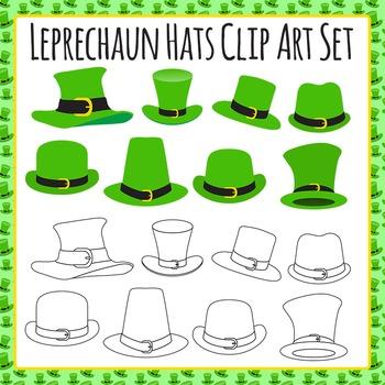 Leprechaun Hats St Patrick's Day Clip Art Set for Commercial Use