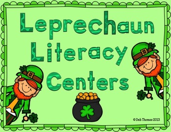 Leprechaun Literacy Centers, Crafts, and Snacks