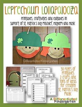 Leprechaun Lollapalooza-St. Patrick's Day Printables, Craf