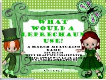Leprechaun Measuring Game(St. Patrick's Day theme)-SmartBoard