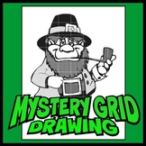 Mystery Grid Drawing - Leprechaun