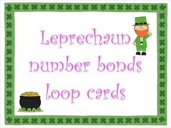 Leprechaun Number Bond Loop Cards