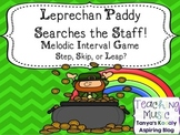 Leprechaun Paddy Searches the Staff! Melodic Interval Game