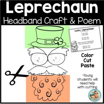 Leprechaun Printable Hat, Mustache, Beard Craft by Teacher