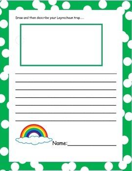 Leprechaun Writing Worksheet