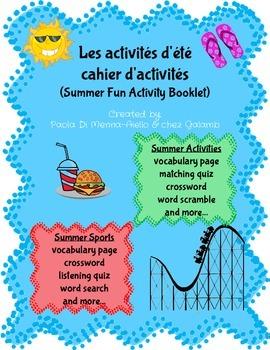 Les Activités d'été-Cahier d'activités (Summer fun activit