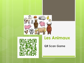 Animaux - Animals (French QR Scan Activity)
