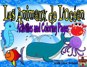 Les Animaux de l'Ocean-Activities and Coloring Pages-FSL a