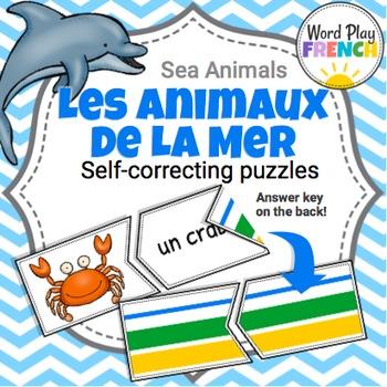 Les Animaux de la Mer / Sea Animals in French - Self-Corre