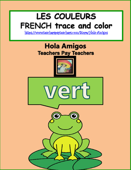 French COLORS - Les Couleurs - French trace and color shee