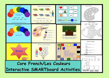 Les Couleurs: Interactive SMARTboard Activities