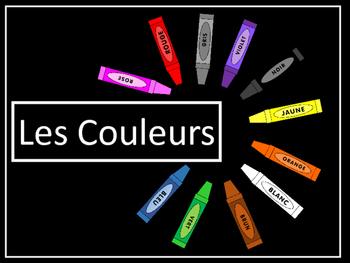 Les Couleurs Vocab Presentation, Emergent Reader and Color