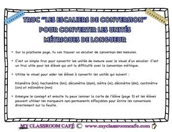 Les Escaliers de Conversions (converting metric length fro