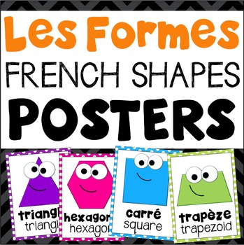 Les Formes French Shapes Posters